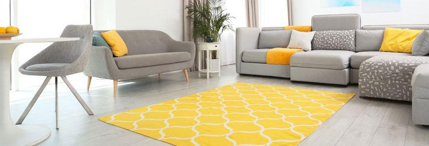 tapis décoratif de grande taille